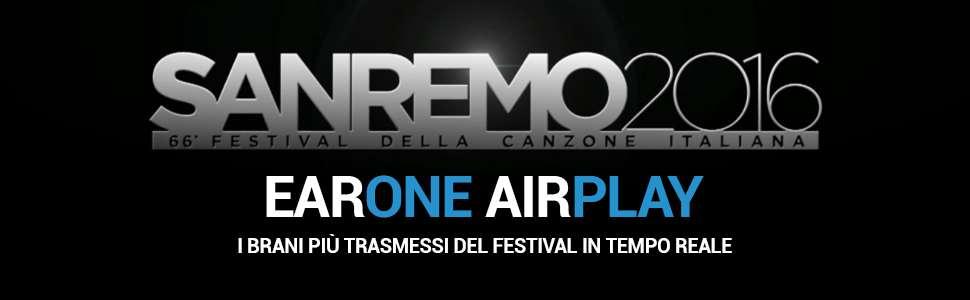 Sanremo 2016 - EarOne AirPlay - I brani più trasmessi del festival