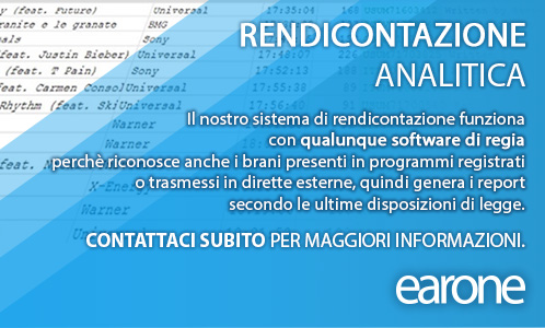 EarOne - rendicontazione analitica